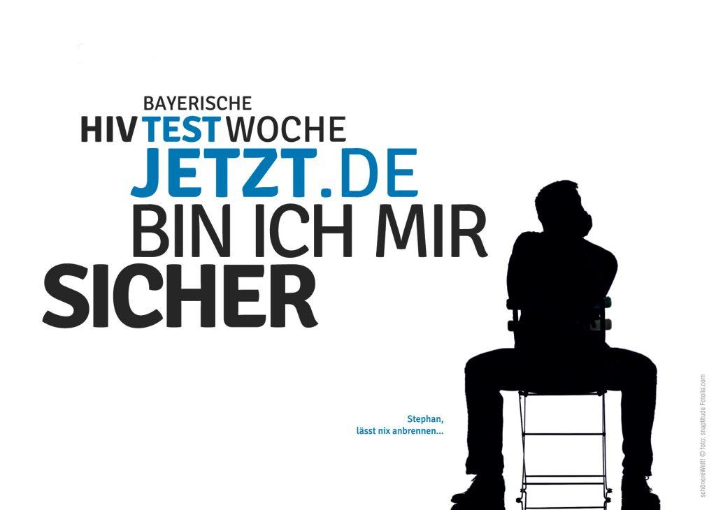 Schattenbild eines Mannes auf dem Stuhl: Stephan, lebens- und liebes-hungrig lässt er nichts anbrennen...